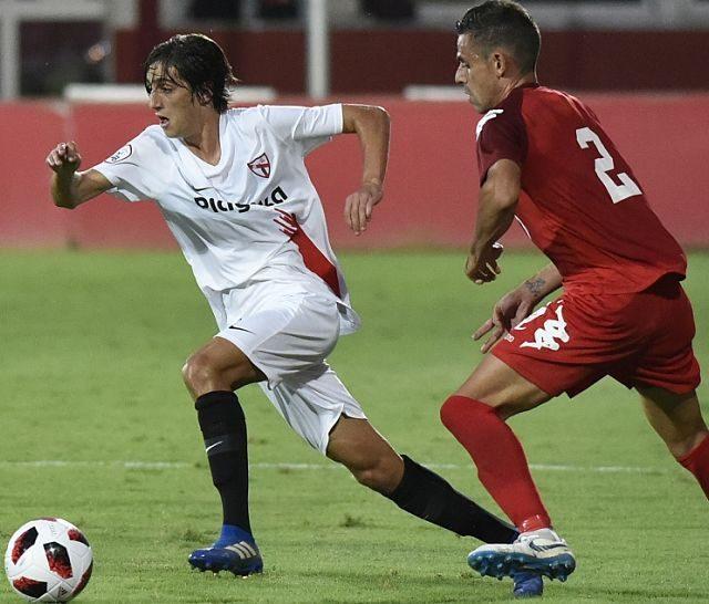 El jugador Bryan Gil, en un encuentro con el Sevilla Atlético esta temporada. Imagen: SevillaFC.es