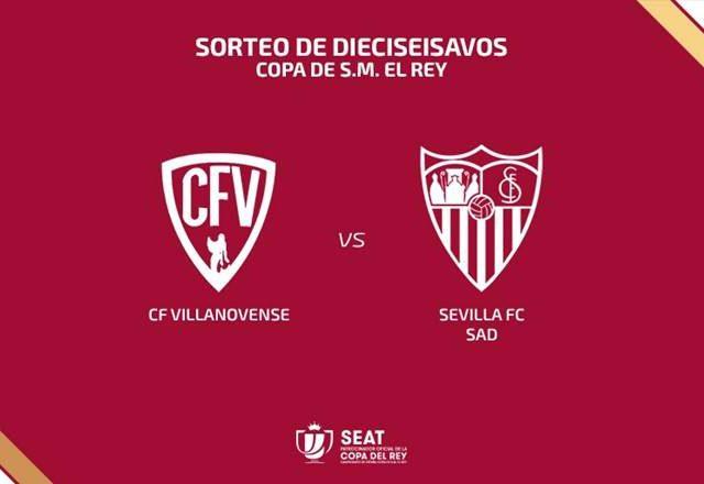 Imagen de la eliminatoria entre el CF Villanovense y el Sevilla FC. Imagen @RFEF