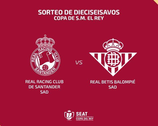 Imagen de la eliminatoria entre el Racing de Santander y el Real Betis. Imagen @RFEF