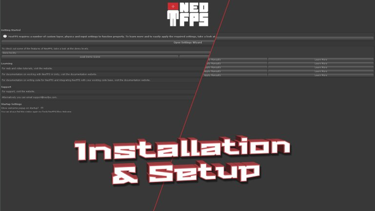 NeoFPS - The Unity FPS controller asset - Setup Tutorial