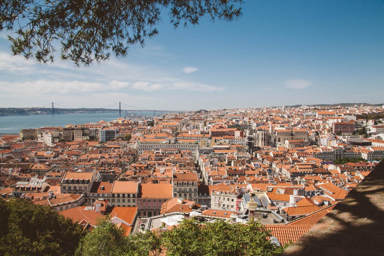 Blick vom Castelo de São Jorge auf Lissabon. Foto: Neoheimat