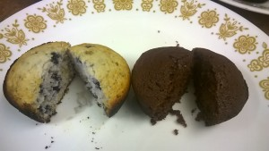 Martha White Muffins Cut
