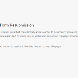 Confirm Form Resubmission Pge in Chrome