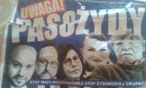 """""""Vigyázz az élősködőkkel""""– Antiszemita poszterek bukkantak fel Varsóban"""
