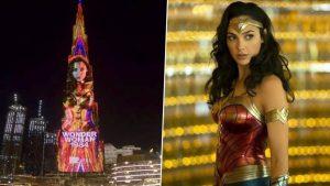 Gal Gadot Wonder Womanként pózolt a Burdzs Kalifa oldalán