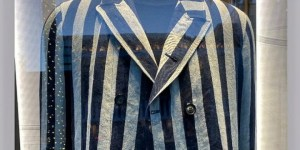 Leveszi kínálatából auschwitzi rabruhára emlékeztető darabját az Armani