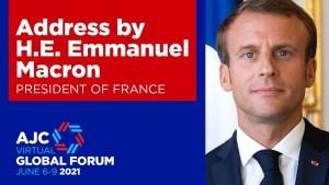 Macron: Az antiszemitizmus egy elfogadhatatlan korbácsütés