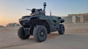 Bemutatták REX-et az új izraeli határőr-robotot