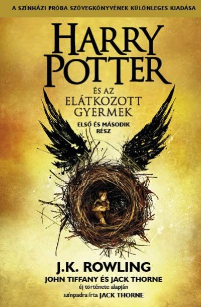 A Harry Potter és az Elátkozott Gyermek könyv borítója.