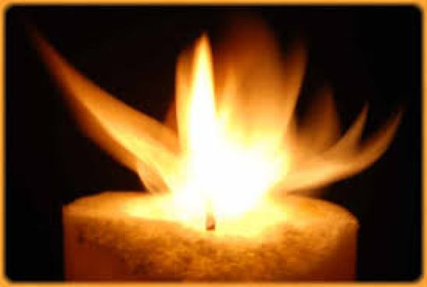 Meditation on a burning candle