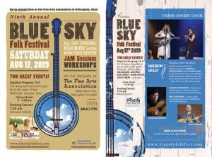 2019 Blue Sky flyer front and back