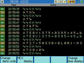 affichage de trames sur LE-8200A