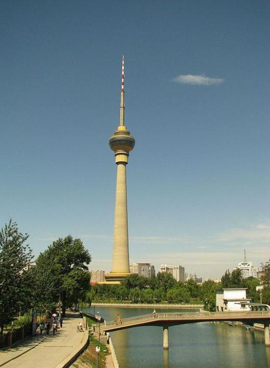 9. Central Radio and TV Tower, China – 405 meters (1,329 ft) concrete tower opened in 1992 in Beijing, It is the tallest structure in the city, the ninth-tallest pinnacle on the planet, and has its perception deck at 238 m (781 ft). The pinnacle gives all-encompassing perspectives over the city from its rotating eatery and perception deck.