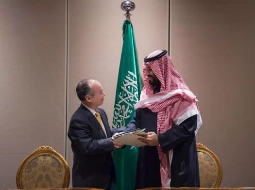 Bin Salman and Softbank CEO