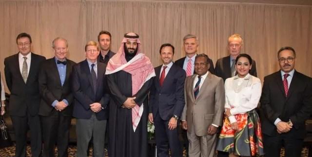 Bin Salman meets 40 executives international companies 3