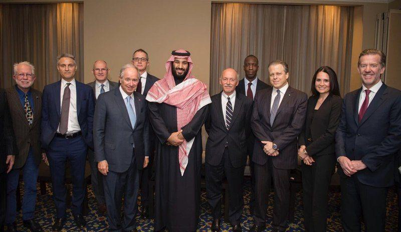Bin Salman meets 40 executives international companies