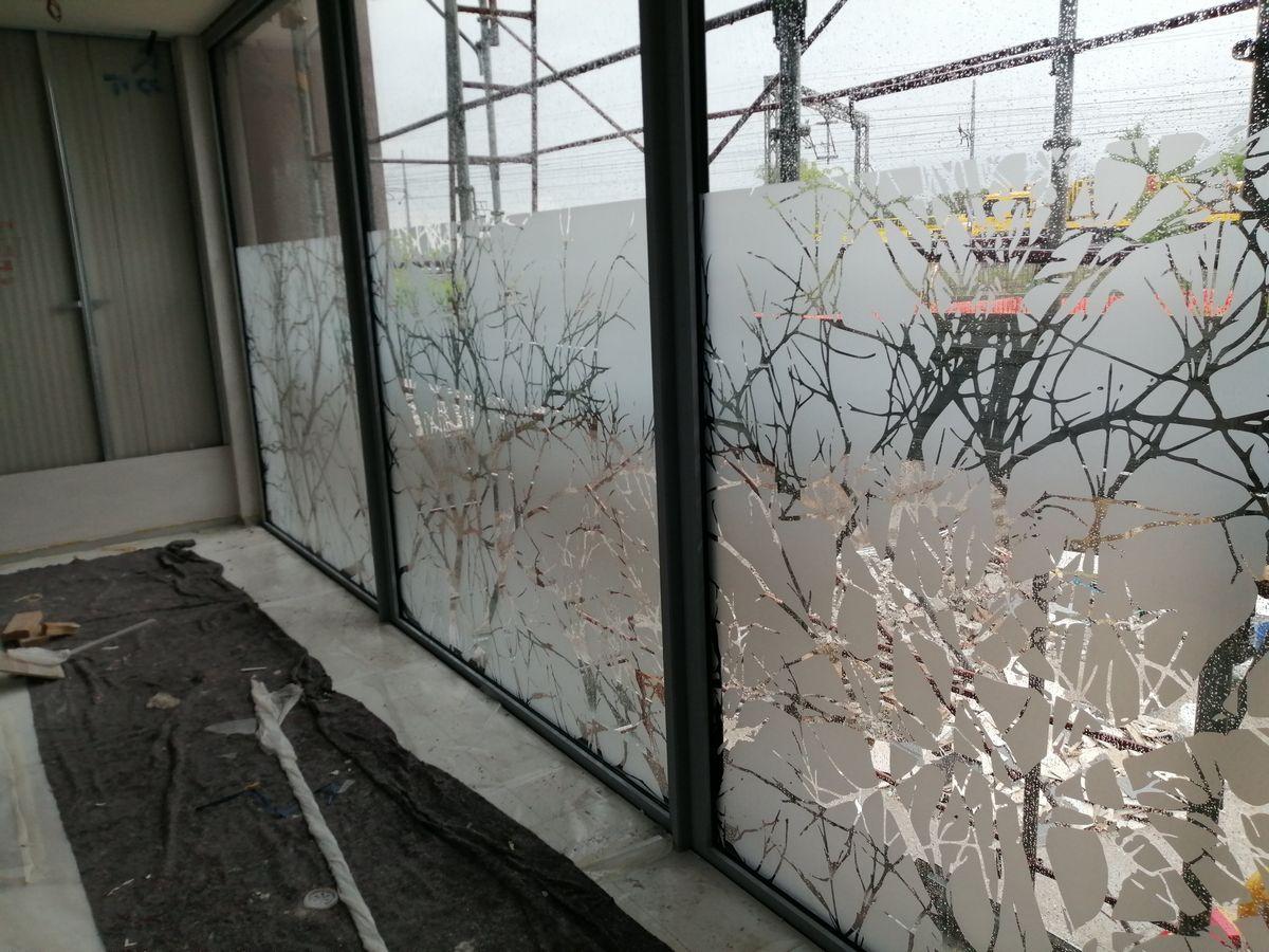 vetrofanie in pretagliato effetto vetro smerigliato