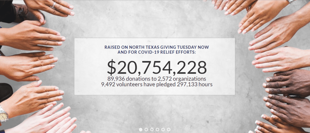 North Texas Gives GivingTuesdayNow Results