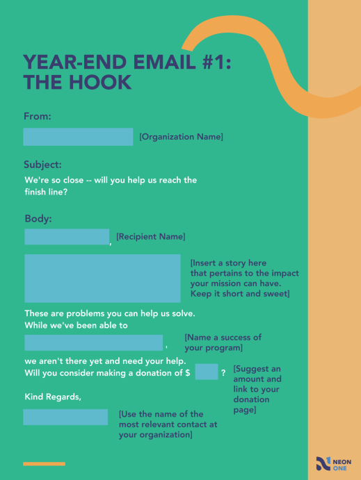 year end giving template: the hook