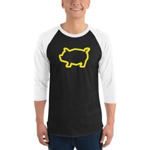 Piggy Baseball Tee – yellow