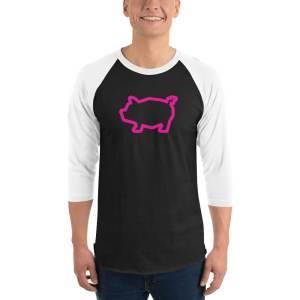 Piggy Baseball Tee – pink