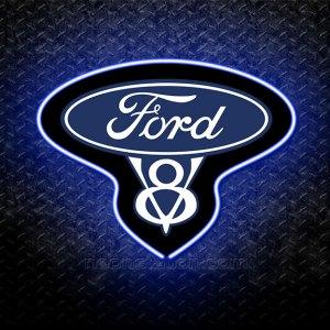 Ford V8 3D Neon Sign