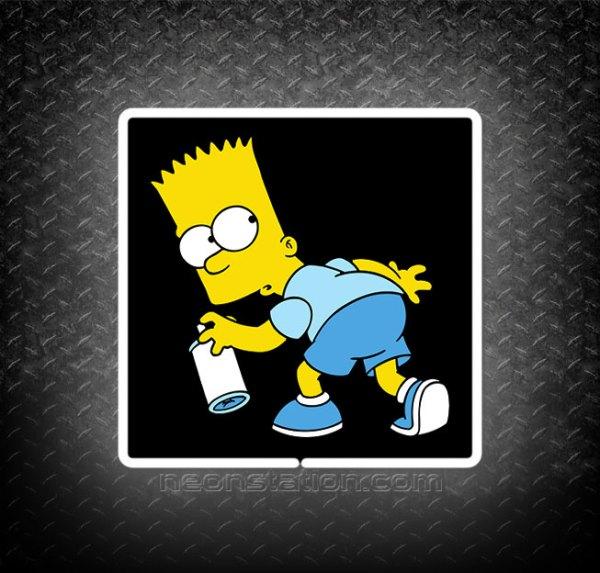 Bart Simpson Spray Paint 3D Neon Sign
