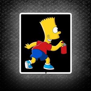 Bart Simpson Spraying Paint 3D Neon Sign