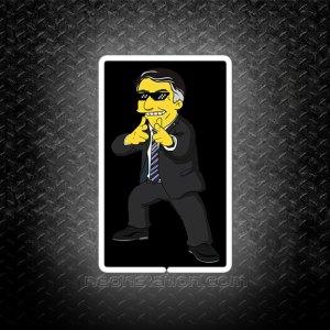 Bolsonaro Simpson 3D Neon Sign