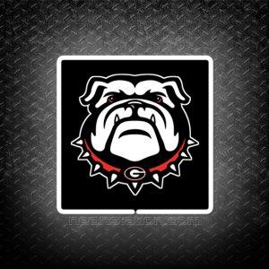 Georgia Bulldogs UGA Logo University 3D Neon Sign