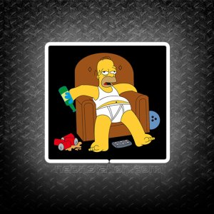 Homer Simpson Drunk 3D Neon Sign