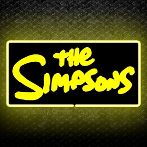 The Simpson Logo 3D Neon Sign