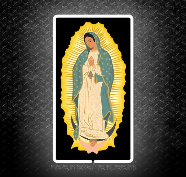 Virgen de Guadalupe 3D Neon Sign