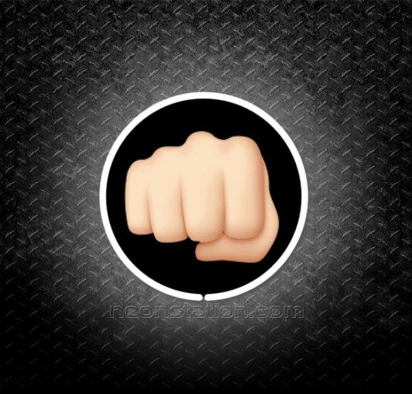 Brofist Closed Fist Emoji 3D Neon Sign