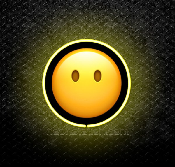 Face Without Mouth Emoji 3D Neon Sign