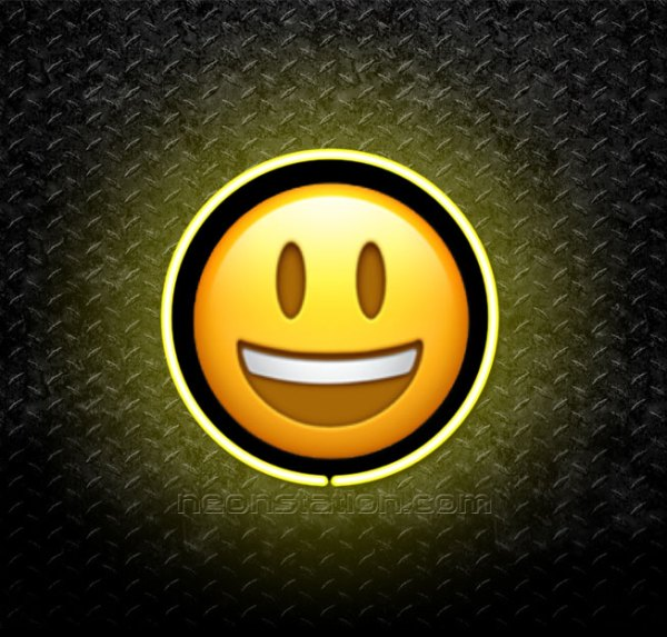 Grinning Face With Open Mouth Emoji 3D Neon Sign