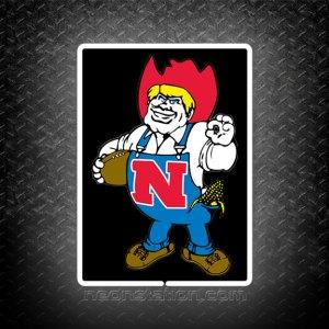 Nebraska Herbie Husker 3D Neon Sign