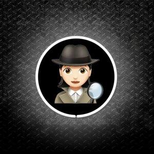 Detective Woman Emoji 3D Neon Sign