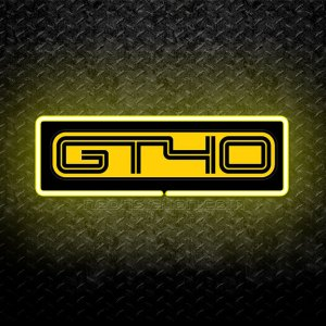 Ford GT40 3D Neon Sign Yellow