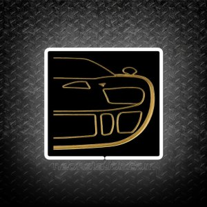 Ford GT40 Silhoutte 3D Neon Sign3