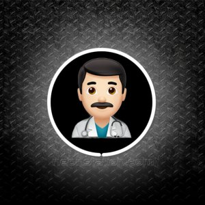 Man Doctor With Black Hair Emoji 3D Neon Sign