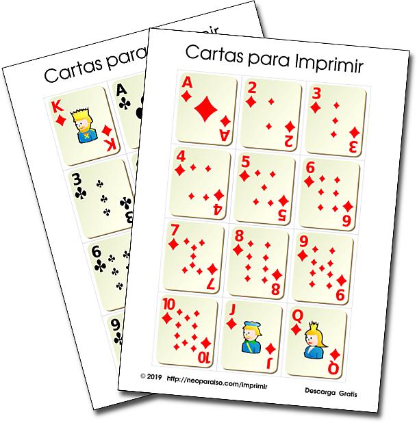 Juegos De Cartas Para Ninos Para Imprimir