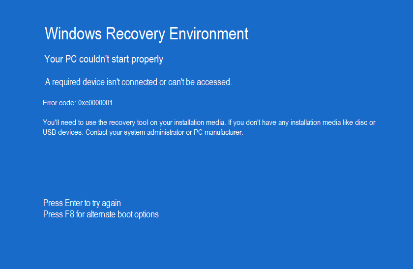 0xc0000001 Fix For Windows Xp Vista 7 8 8 1 10