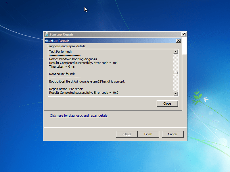 Hal. Dll is missing or corrupt: fix for windows xp, vista, 7.