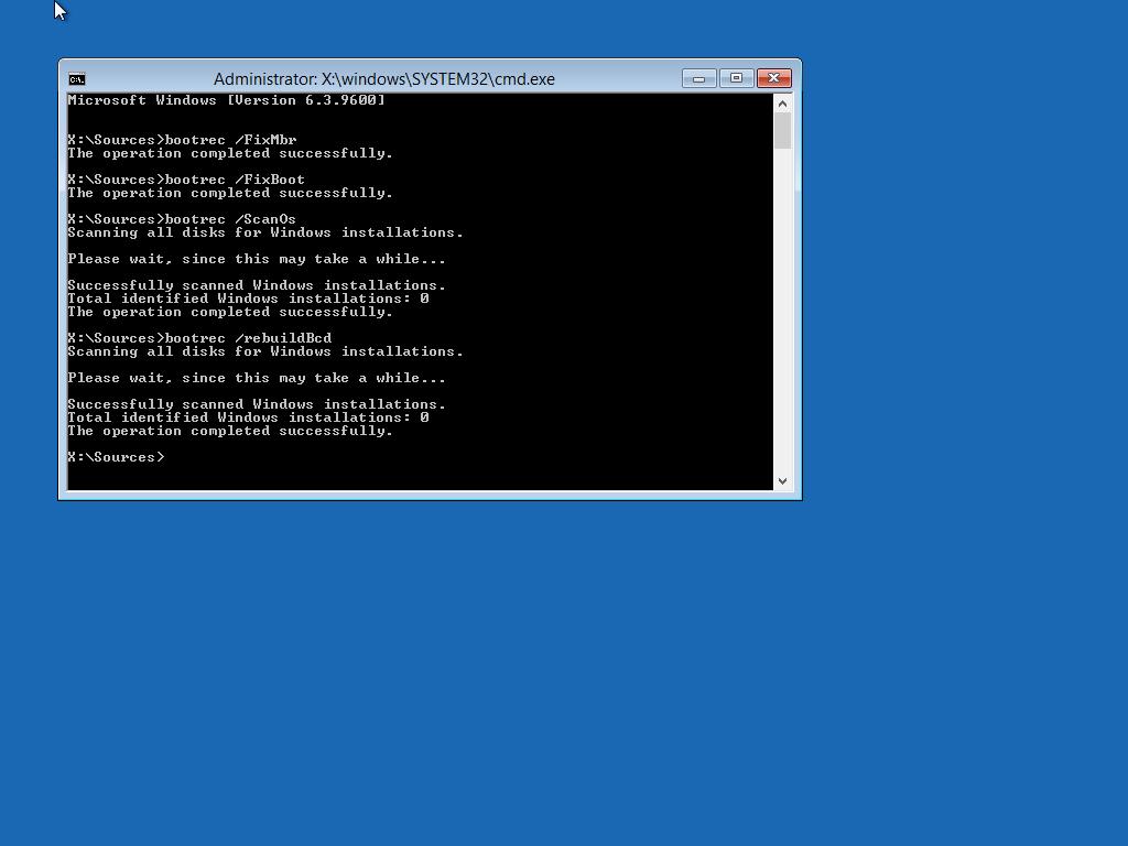winload efi missing or corrupt: Fix for Windows 7, 8