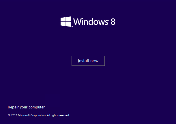 make windows 8 install usb