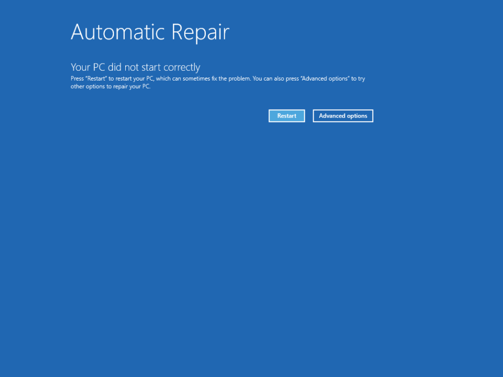 Windows 8 User32 dll not found error screen