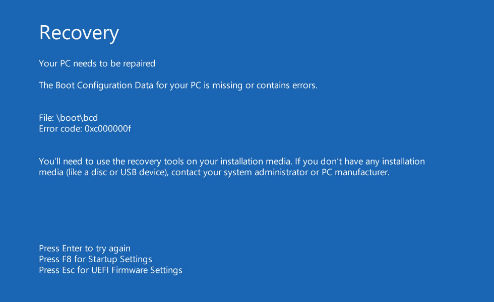 Your PC needs to be repaired: Fix for Windows 8, 8 1