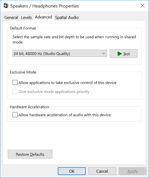Fixing latency and delays in Windows audio output