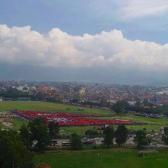 human flag in nepal 2